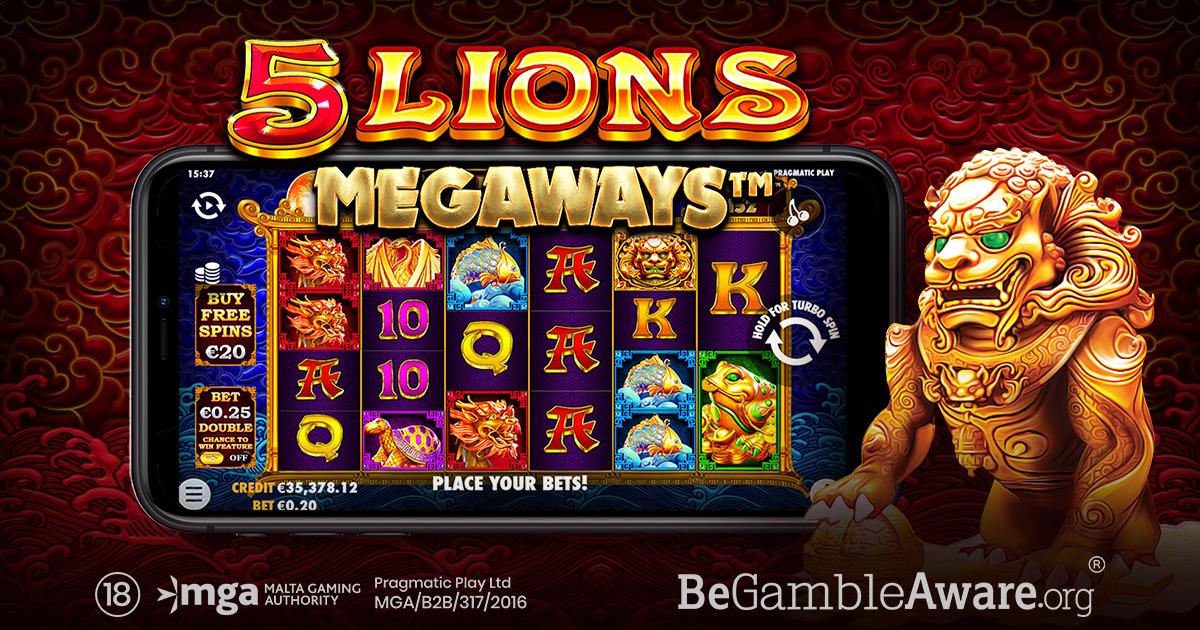 PRAGMATIC PLAY MEMBAWA PETUALANGAN ASIA KEMBALI DI 5 LIONS MEGAWAYS™